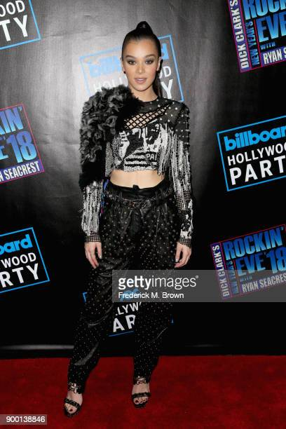 Hailee Steinfeld attends Dick Clark's New Year's Rockin' Eve with Ryan Seacrest 2018 on December 31 2017 in Los Angeles California