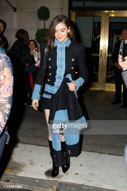 Hailee Steinfeld attends Gigi Hadid's 24th Birthday at L'Avenue in Midtown on April 22 2019 in New York City
