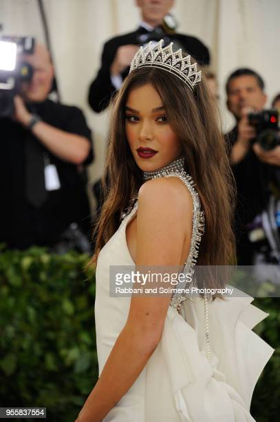 Hailee Steinfeld attends Heavenly Bodies Fashion The Catholic Imagination Costume Institute Gala at the Metropolitan Museum of Art in New York City