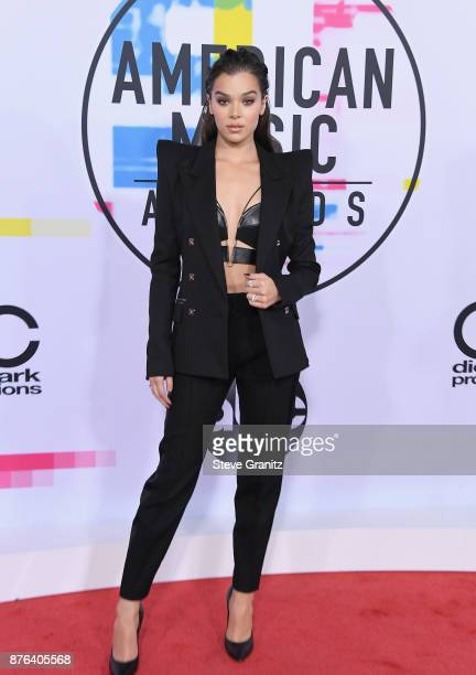 Hailee Steinfeld attends the 2017 American Music Awards at Microsoft Theater on November 19 2017 in Los Angeles California