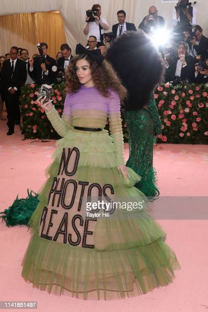 """Hailee Steinfeld attends the 2019 Met Gala celebrating """"Camp: Notes on Fashion"""" at The Metropolitan Museum of Art on May 6, 2019 in New York City."""