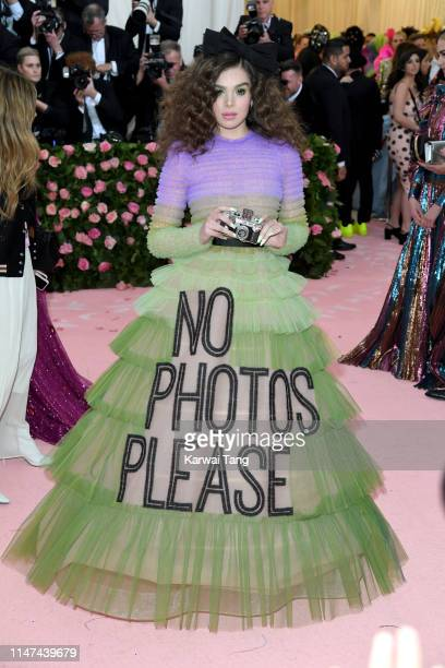 Hailee Steinfeld attends The 2019 Met Gala Celebrating Camp: Notes On Fashion at The Metropolitan Museum of Art on May 06, 2019 in New York City.
