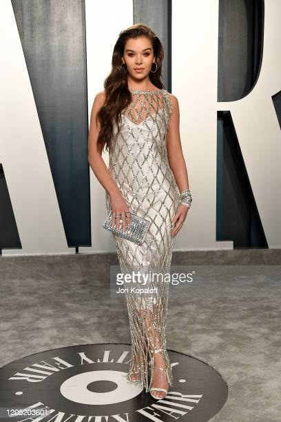 Hailee Steinfeld attends the 2020 Vanity Fair Oscar Party hosted by Radhika Jones at Wallis Annenberg Center for the Performing Arts on February 09,...