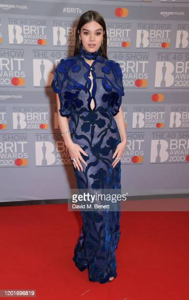 Hailee Steinfeld attends The BRIT Awards 2020 at The O2 Arena on February 18, 2020 in London, England.