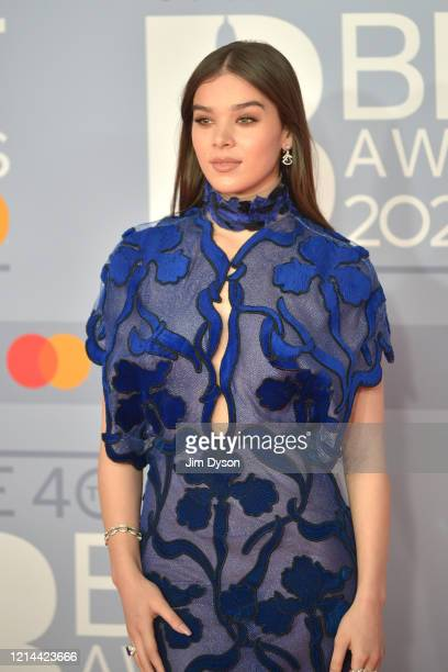 Hailee Steinfeld attends The BRIT Awards 2020 at The O2 Arena on February 18 2020 in London England