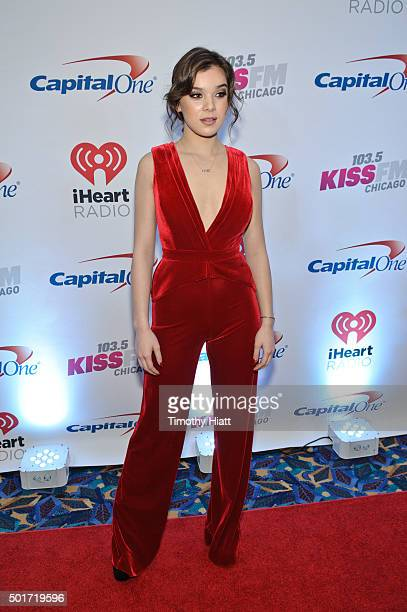 Hailee Steinfeld attends the Chicago Stop of the 2015 iHeartRadio Jingle Ball at Allstate Arena on December 16 2015 in Chicago Illinois