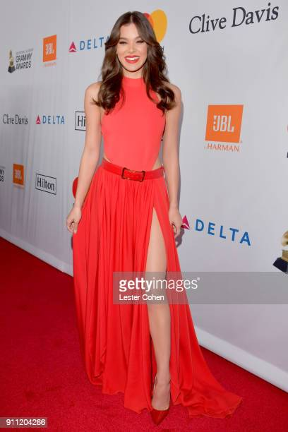 Hailee Steinfeld attends the Clive Davis and Recording Academy PreGRAMMY Gala and GRAMMY Salute to Industry Icons Honoring JayZ on January 27 2018 in...