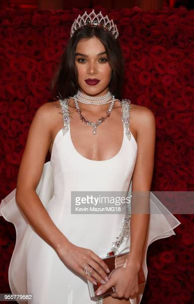 Hailee Steinfeld attends the Heavenly Bodies Fashion The Catholic Imagination Costume Institute Gala at The Metropolitan Museum of Art on May 7 2018...