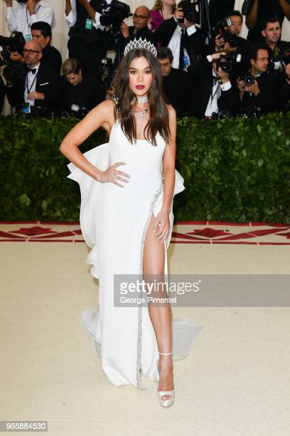 Hailee Steinfeld attends the Heavenly Bodies Fashion The Catholic Imagination Costume Institute Gala at Metropolitan Museum of Art on May 7 2018 in...