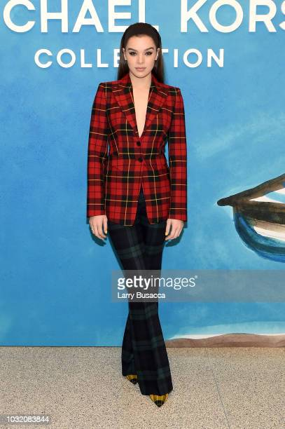 Hailee Steinfeld attends the Michael Kors Collection Spring 2019 Runway Show at Pier 17 on September 12 2018 in New York City
