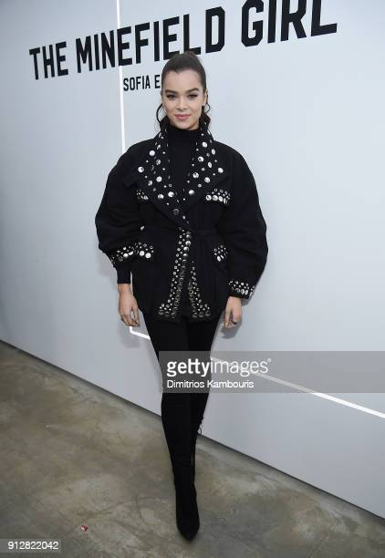 Hailee Steinfeld attends 'The Minefield Girl' Audio Visual Book Launch at Lightbox on January 31 2018 in New York City