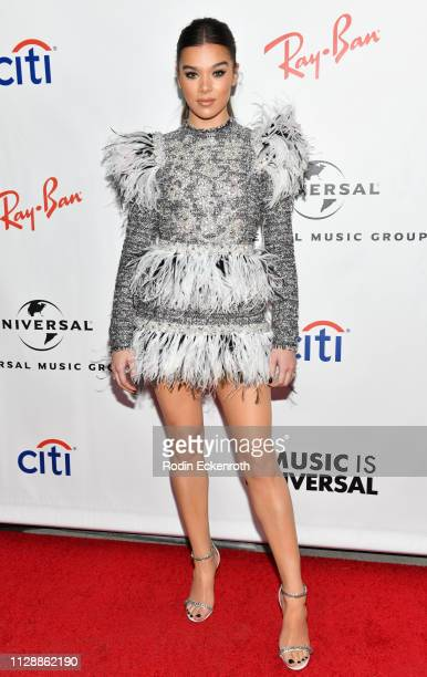 Hailee Steinfeld attends the Universal Music Group's 2019 After Party To Celebrate The GRAMMYs at ROW DTLA on February 10 2019 in Los Angeles...