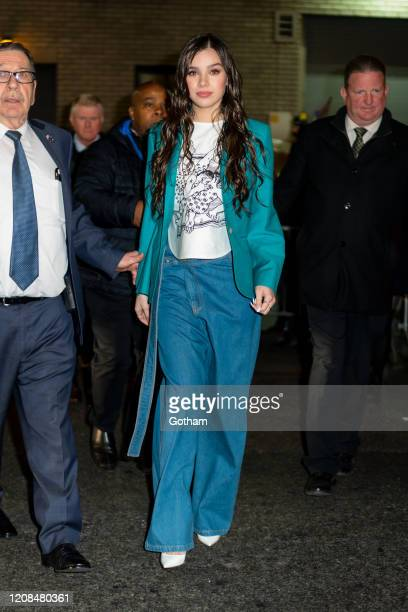 Hailee Steinfeld departs the Late Show in Midtown on February 24 2020 in New York City