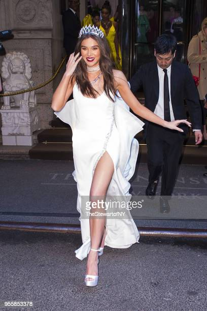 Hailee Steinfeld is seen at The Peninsula Hotel in Midtown on May 7 2018 in New York City