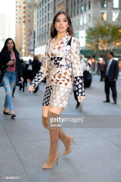 Hailee Steinfeld is seen in Midtown on November 01, 2019 in New York City.