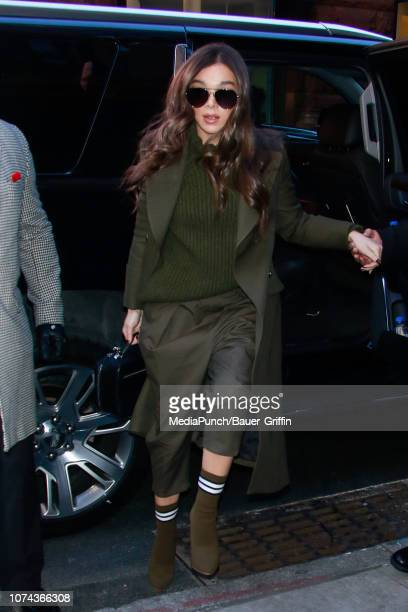 Hailee Steinfeld is seen on December 18, 2018 in New York City.