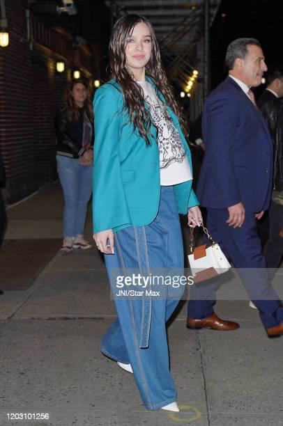 Hailee Steinfeld is seen on February 24 2020 in New York City