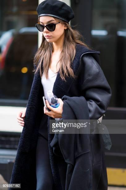 Hailee Steinfeld is seen wearing Prive Revaux in SoHo on March 8 2018 in New York City