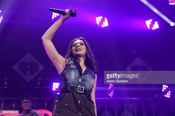 Hailee Steinfeld performs at Y100's iHeartRadio Jingle Ball 2016 at BBT Center on December 18 2016 in Sunrise Florida