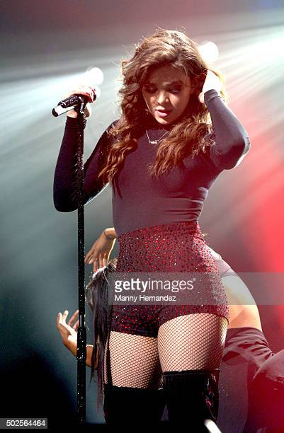 Hailee Steinfeld performs during the 2015 Y100 Jingle Ball at BBT Center on December 18 2015 in Sunrise Florida
