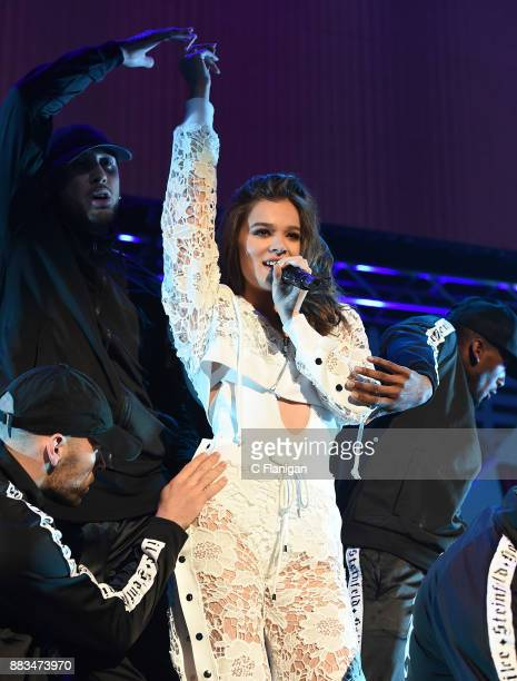 Hailee Steinfeld performs during the 2017 WiLD 949 FM iHeartRadio Jingle Ball at SAP Center on November 30 2017 in San Jose California
