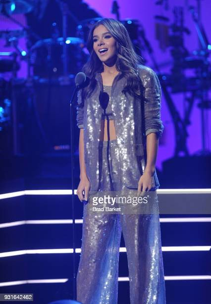 Hailee Steinfeld performs during the Elton John I'm Still Standing A Grammy Salute at The Theater at Madison Square Garden on January 30 2018 in New...