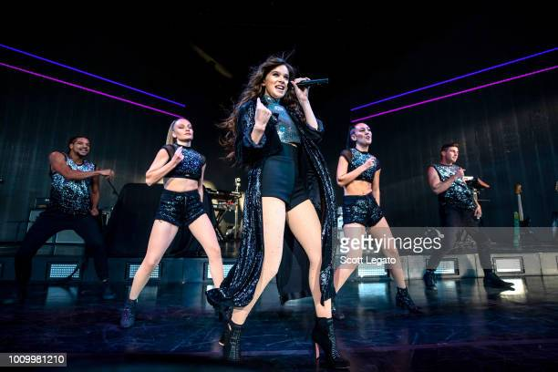 Hailee Steinfeld performs during the Honda Civic Tour 2018 at DTE Energy Music Theater on August 2 2018 in Clarkston Michigan