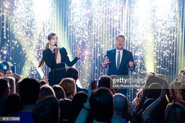 Hailee Steinfeld performs 'First Line Every Line' with James Corden during 'The Late Late Show with James Corden' Thursday November 10 2016 On The...