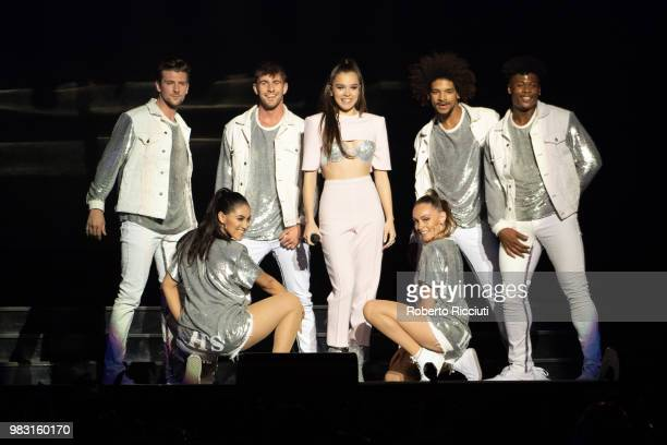 Hailee Steinfeld performs on stage at The SSE Hydro on June 24 2018 in Glasgow Scotland