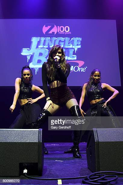 Hailee Steinfeld performs onstage at Z100's Jingle Ball 2015 Z100 CocaCola All Access Lounge Show at Hammerstein Ballroom on December 11 2015 in New...