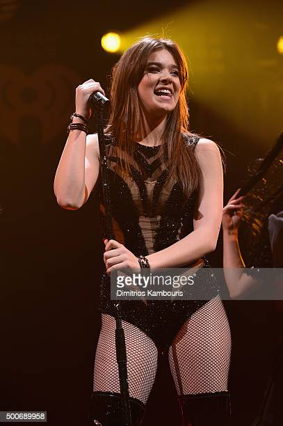 Hailee Steinfeld performs onstage during Q102's Jingle Ball 2015 presented by Capital One at Wells Fargo Center on December 9 2015 in Philadelphia Pa
