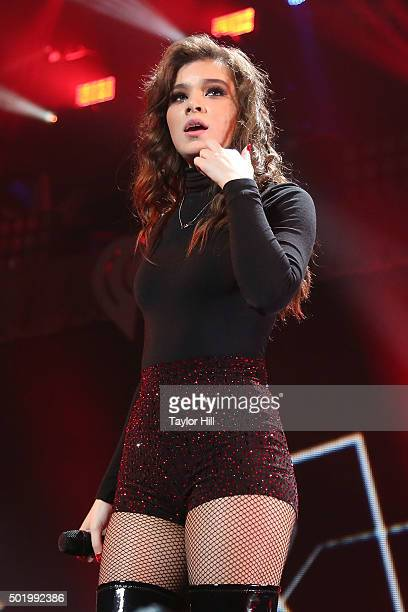 Hailee Steinfeld performs onstage during the 2015 Y100 Jingle Ball at BBT Center on December 18 2015 in Sunrise Florida