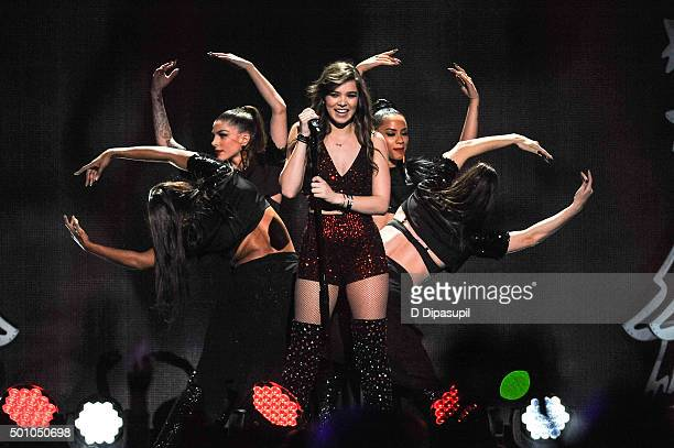 Hailee Steinfeld performs onstage during Z100's iHeartRadio Jingle Ball 2015 at Madison Square Garden on December 11 2015 in New York City