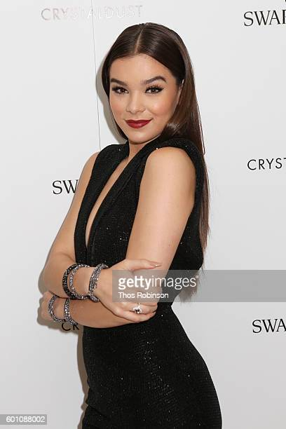 Hailee Steinfeld poses at Turn Up The Style Swarovski Meet Greet with Hailee Steinfeld during New York Fashion Week at Swarovski on September 9 2016...