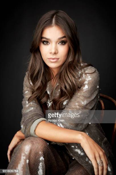 Hailee Steinfeld poses for a portrait at the 60th Annual GRAMMY Awards I'm Still Standing A GRAMMY Salute To Elton John at The Theater at Madison...