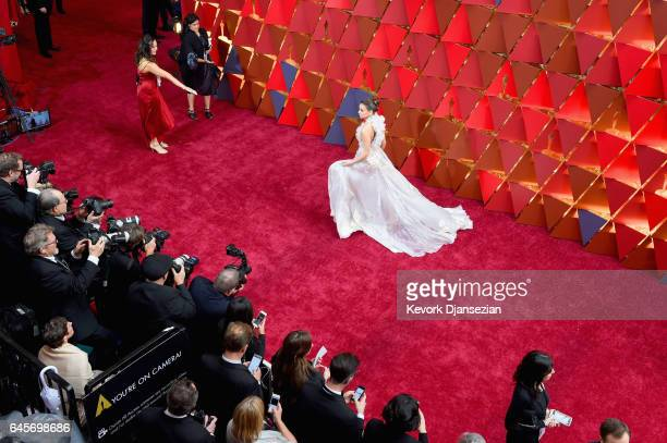 Hailee Steinfeld poses in the press room during the 89th Annual Academy Awards at Hollywood Highland Center on February 26 2017 in Hollywood...