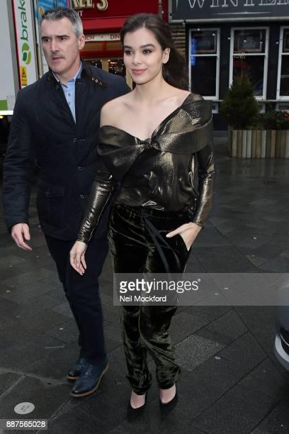 Hailee Steinfeld seen arriving at Capital Radio Studios on December 7 2017 in London England