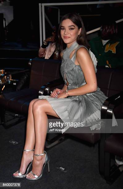 Hailee Steinfeld sits and watches the 2017 MTV Video Music Awards at The Forum on August 27 2017 in Inglewood California