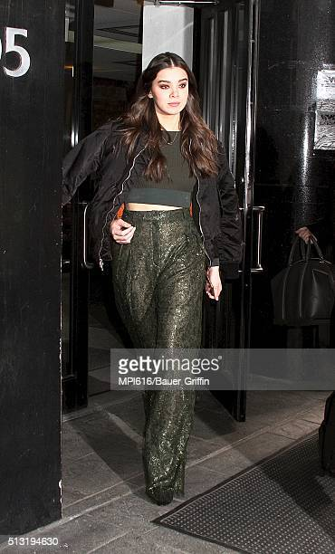 Hailee Steinfeld spotted leaving 'Good Day New York' on March 01 2016 in New York City