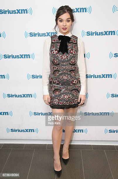 Hailee Steinfeld visits at SiriusXM Studio on November 16 2016 in New York City