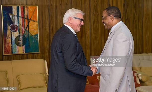 Hailemariam Desalegn, Primeminister of Ethiopia, and German Foreign Minister Frank-Walter Steinmeier meet on March 24, 2014 in Addis Abeba, Ehiopia....