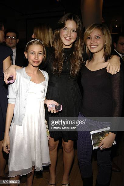 Hailey Baldwin Alaia Baldwin and Mia attend Baume Mercier and Love146 Fund Raiser at Helen Mills Event Space on November 20 2008 in New York City