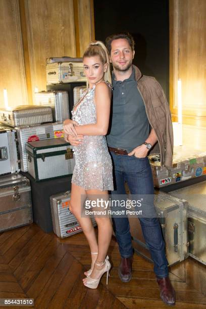 Hailey Baldwin and Derek Blasberg attend dinner hosted by Rimowa Alexandre Arnault to celebrate the 80th Anniversary of Rimowa's iconic aluminium...