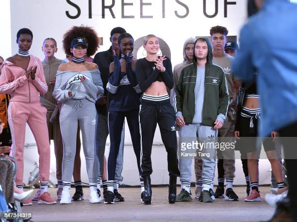 Hailey Baldwin and Rafferty Law attend the Streets of EQT Fashion Show at The Old Truman Brewery on September 15 2017 in London England Hailey...