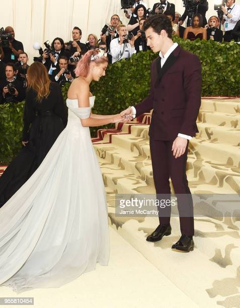 Hailey Baldwin and Shawn Mendes attend the Heavenly Bodies Fashion The Catholic Imagination Costume Institute Gala at The Metropolitan Museum of Art...