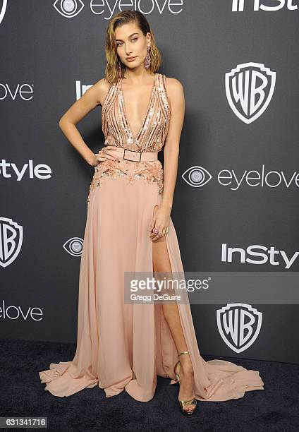 Hailey Baldwin arrives at the 18th Annual PostGolden Globes Party hosted by Warner Bros Pictures and InStyle at The Beverly Hilton Hotel on January 8...