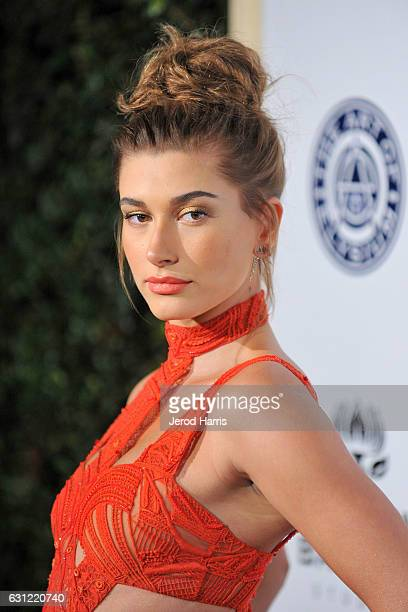 Hailey Baldwin arrives at The Art of Elysium presents Stevie Wonder's HEAVEN Celebrating the 10th Anniversary at Red Studios on January 7 2017 in Los...