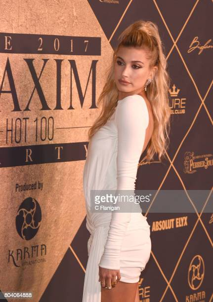 Hailey Baldwin arrives at the The 2017 MAXIM Hot 100 Party at Hollywood Palladium on June 24 2017 in Los Angeles California
