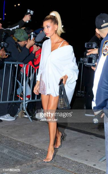Hailey Baldwin at the official Met Gala afterparty at Up and Down on May 6 2019 in New York City