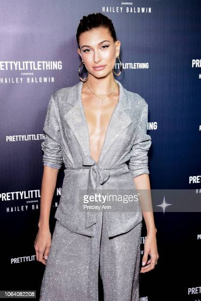 Hailey Baldwin attends PrettyLittleThing X Hailey Baldwin at Catch on November 05 2018 in West Hollywood California